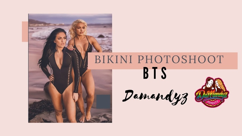 BIKINI PHOTOSHOOT BTS | WWE | Mandy Rose | Sonya Deville | Damandyz Donutz |