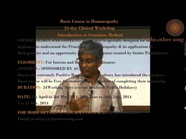 Dr Rajan Sankaran's Seminar on Sensation Method Part I