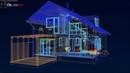 Дом с террасой и панорамными окнами. Проект современного дома. Клип. Крутой дом! Shorts