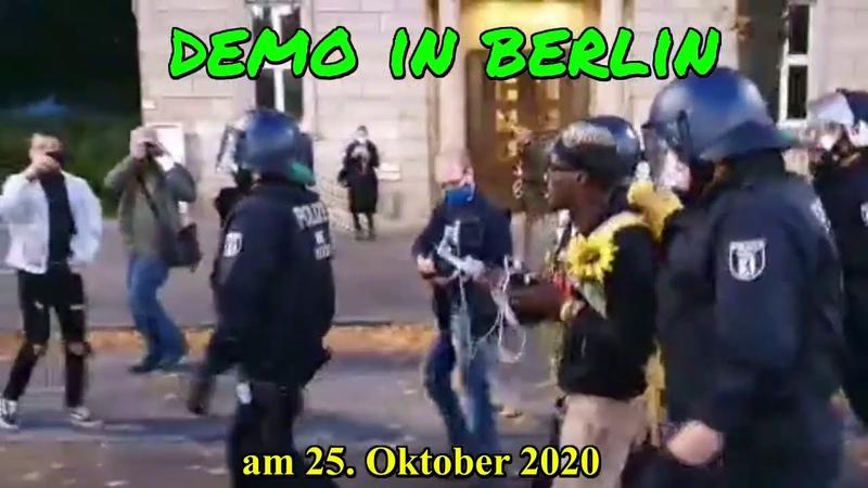Demo in Berlin am 25 10 2020 Verhaftung von Nana Domena Video von honkforhope