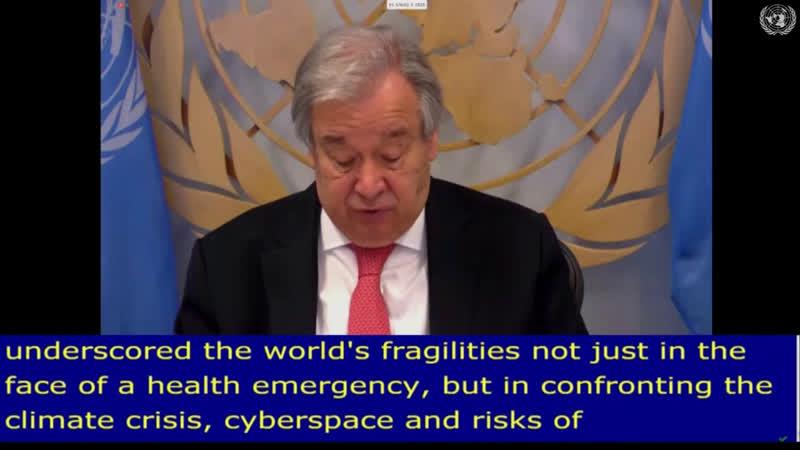 Secretario General de la ONU Antonio Guterres interviene en Consejo Económico y Social de la ONU