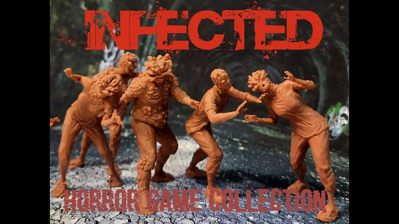 """A set of toy figures Infected"""" of the Horror Game Collection"""" series in rubber plastic"""