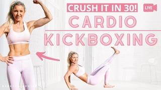 30-минутный кардио кикбоксинг для тонуса всего тела. CARDIO CRUSHING KICKBOXING - 30 minutes FULL BODY workout to TONE UP