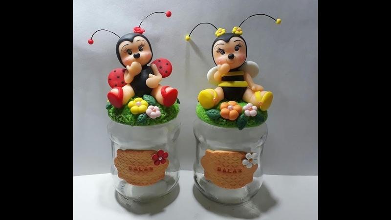 DIY POTE JOANINHA DE BISCUIT Toys Porcelana fria polymer clay