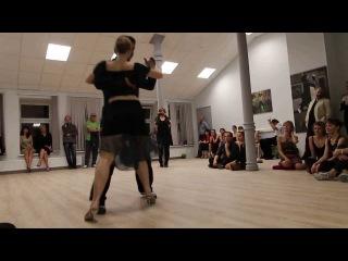 Sara Westin и Juan Pablo Canavire  в танго-клубе Edissadni Tango  - танго1