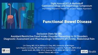 Functional GI: Dietary Management, ARFI Disorder, Chronic Abdominal Pain | UCLA Digestive Diseases