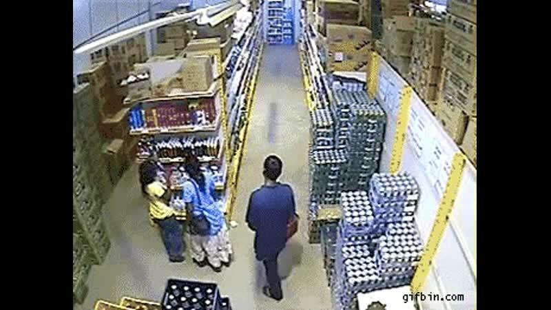 Beer shoplifter